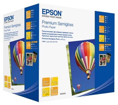 Фотобумага EPSON C13S042200, Premium Semigloss Photo Paper